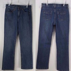 Lee Straight Leg Stretch Med Wash Comfort Waist 6